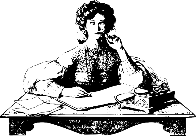Woman sitting thinking writing