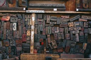 Wooden printing blocks; free image, Pixabay.com